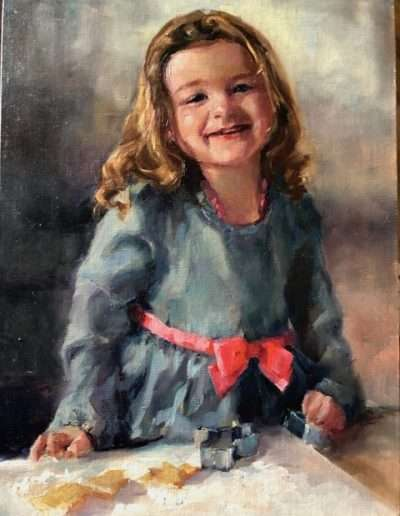Portrait, Baking Cookies, by Pamela Nichols