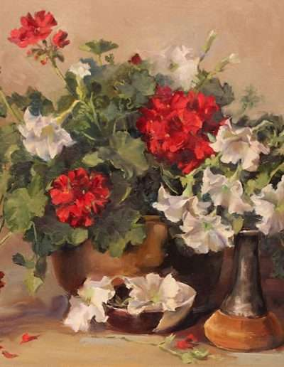 Geraniums by Pamela Nichols