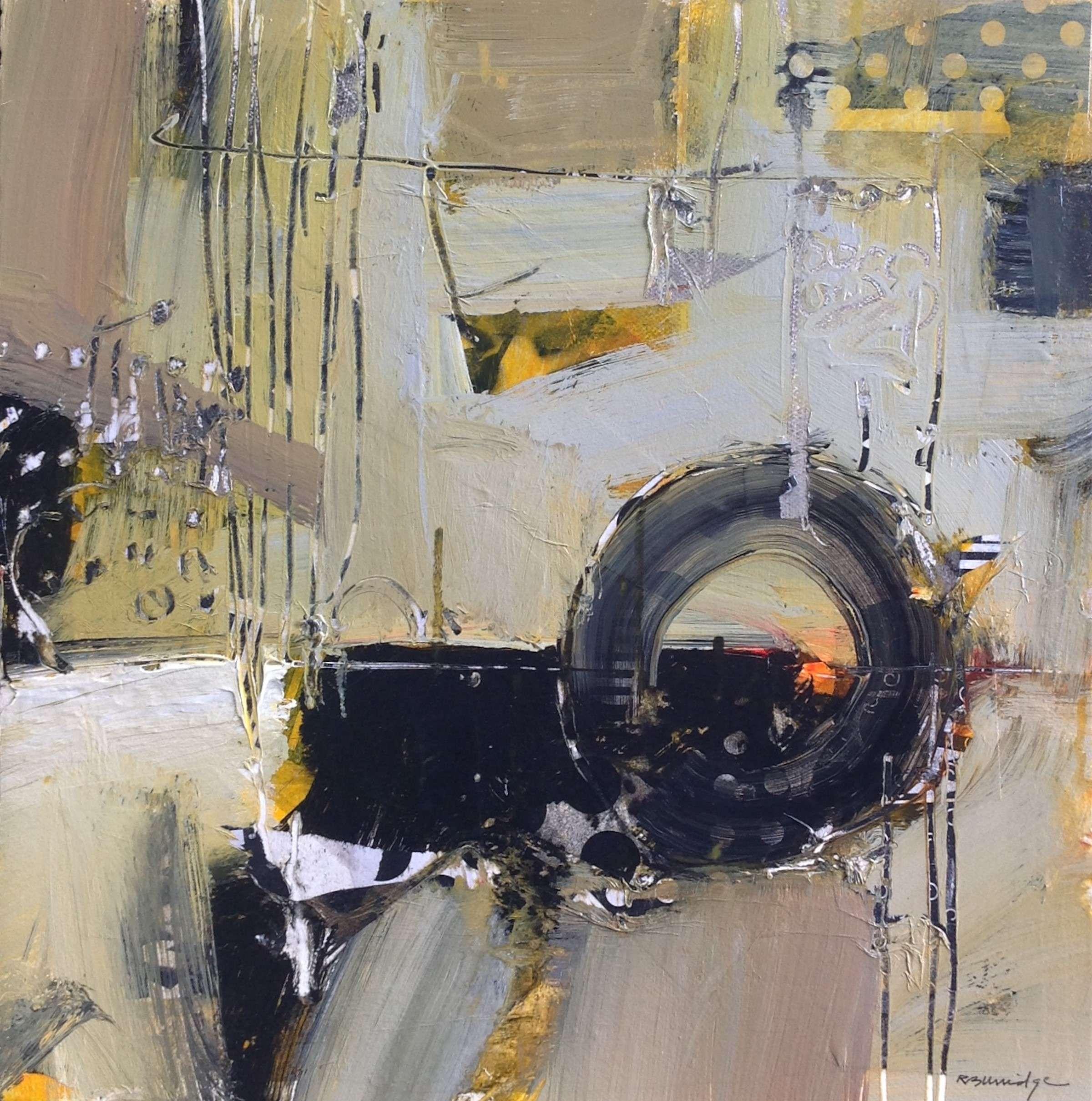 Robert Burridge Abstract Acrylic Scene in neutrals