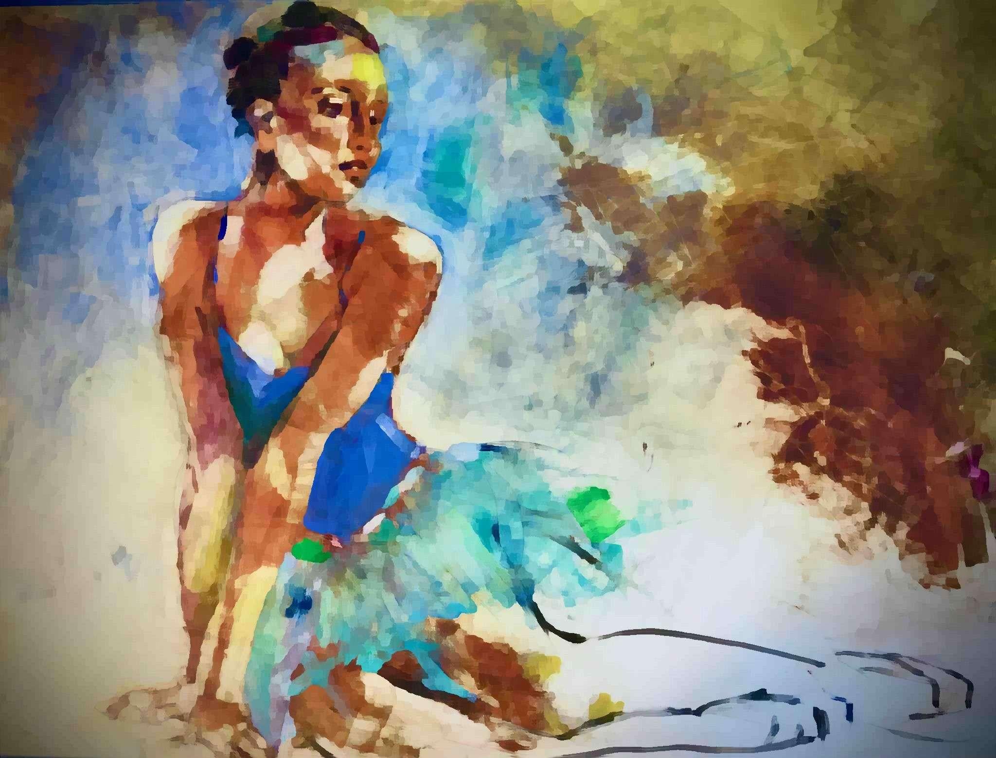 Ballerina in Watercolor - Nirmal Singh MD