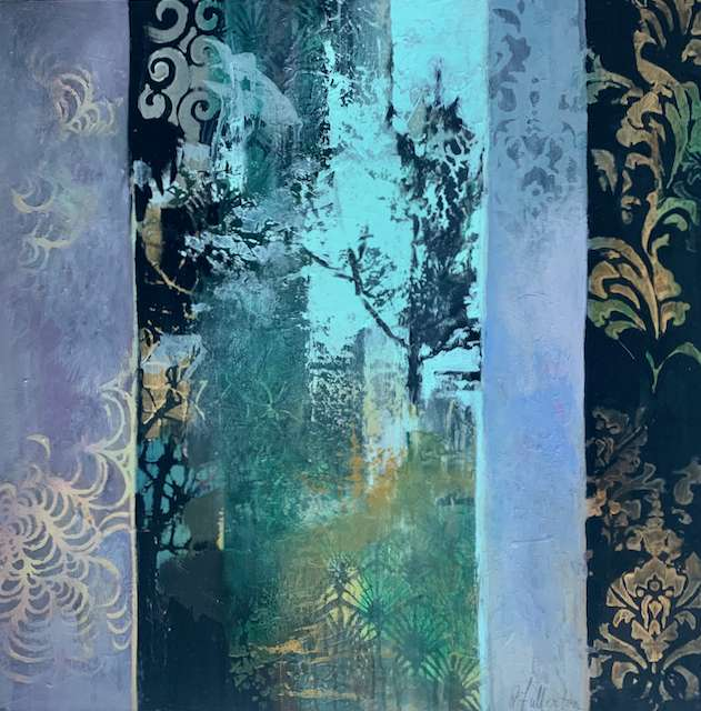 Acrylic Collage titled Forest by Joan Fullerton