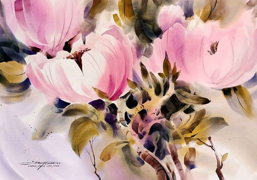 Sterling Edwards - Magnolia painting