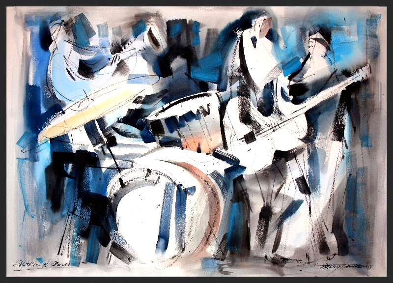 Sterling Edwards - Rhythm in Blues painting